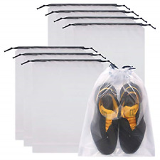 Set of 8 Transparent Shoe Bags for Travel Large Clear Plastic Shoes Storage