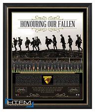 Hawthorn Honouring Our Fallen ANZAC Signed Print Framed Luke Hodge & Clarkson