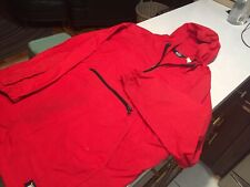 Vtg 90s WOOLRICH Anorak Windbreaker Pullover L Tall USA made Red Rain