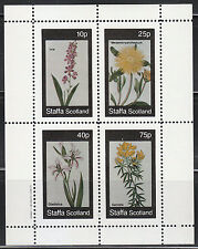 Souvenir sheet of 4 MNH stamps FLOWERS Ixia Gladiolus Genista Mesembryanthemum