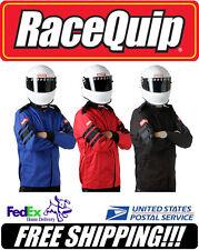 RaceQuip BLACK XL X-Large SFI 3.2A/1 1-Layer Racing Race Driving Jacket #111006
