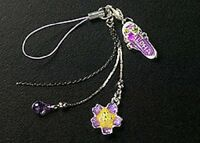 New Cell Phone Charm Strap For Mobile Purple Enamel Flower Free Shipping Aloha