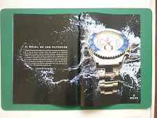7/2010 PUB MONTRE WATCH ROLEX YACH MASTER II ORIGINAL SPANISH ADVERT