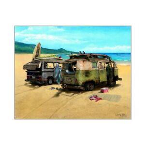 Two VW Vans Art Print ~ Cruiser Art Gallery