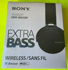 SONY MDR-XB650BT EXTRA BASS WIRELESS BLUETOOTH HEADPHONES (BLACK) NIB