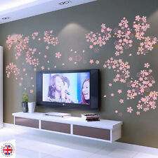 3d rosa fiori di ciliegio Wall Sticker Art Home Decor Grafica Fiori Petali Tree