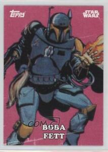 2016 Topps Star Wars Card Trader Physical Cards Classic Art Boba Fett #CA-7 2f4