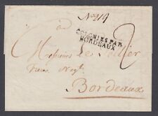 "US 1803 SFL, NY to Bordeaux, France, ""Ouverte a l'amiraute de Londres"", censored"