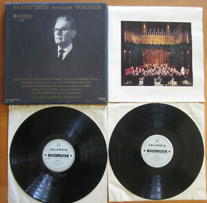 SAX 2347-2348 ED1 Klemperer Conducts Wagner 2xLP + booklet Columbia 1st B/S