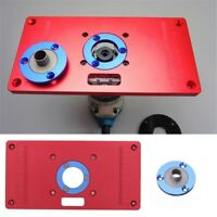 Pro Aluminum Router Table Insert Plate Ring For Woodworking Bench Trimmer Tool