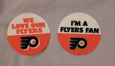 PHILADELPHIA FLYERS - WE LOVE OUR FLYERS & I'M A FLYERS FAN LOT BUMPER STICKERS