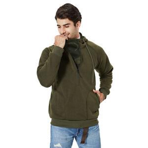 Mens Leisure Hoodie Fleece Fashion Workout Top Sports Sweater Baggy Sweatshirt