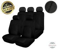 Ford Ranger 2012+ 9 Pcs Full Set Black Fabric Car Seat Covers