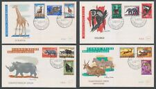 Belgian Belgish Congo 1959 Fauna full set FDC. Scarce & Rare!