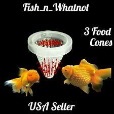 3pcs Aquarium Fish Food Cone Feeder Pellets Flake Bloodworm -USA Seller-