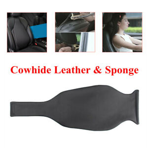 Car Front Seat Mat Cover Driver's Seat Lumbar Cushion Universal Leather Sponge