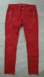 Buena Vista Damen Stretch Jeans Hose Malibu Zipp Denim rot Gr. L w. NEU
