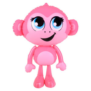 """24"""" Pink Baby Monkey Inflatable - Inflate Blow Up Toy Party Decoration"""