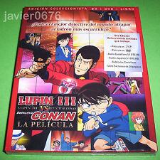 LUPIN III VS DETECTIVE CONAN COLECCIONISTA BLU-RAY DVD LIBRO NUEVO PRECINTADO