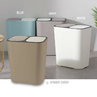 2 Compartment Waste/Trash/Recycle Bin with Push Button for Kitchen- Diff