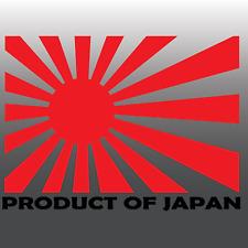 1x Divertido Producto De Japón JDM Sol Naciente coche vinilo autoadhesivo con | Honda | Mazda