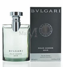 Bvlgari Pour Homme Soir by Bvlgari for Men Eau De Toilette 3.4 OZ 100 ML Spray