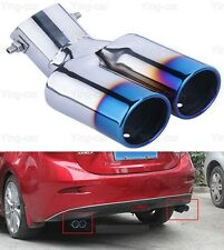 2Pcs Double Exhaust Muffler Tail Pipe Tip Tailpipe for Mazda 3 Sedan 14-2017 18
