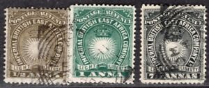 BRITISH EAST AFRICA COMPANY 1890/4 STAMP Sc. # 14/5 AND 22 USED