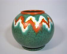ART Deco sfera VASO CERAMICA uranio Tapis glassa firma German Globe Pottery 1930