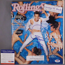 SWEET!! Ricky Martin Signed Awesome ROLLING STONE Magazine PSA/DNA Wow!!