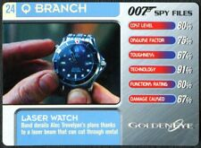 Laser Watch #24 Q Branch 007 Spy Files 2002 James Bond Trade Card (C1857)