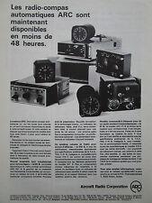 4/1967 PUB AIRCRAFT RADIO RADIO-COMPAS AUTOMATIQUE ORIGINAL FRENCH AD