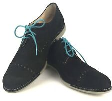 Cole Haan Black Suede Womens 8 Gramercy Derby Shoe lace up oxford