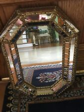 Antique Gold Medallions and Inlaid Mirror Pieces Decorative Mirror or Tray Spain