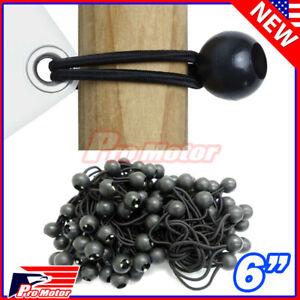 "Bulk Lot 6"" Ball Bungee Bungie Cord Tarp Tie Down Tight Strap Canopy Elastic"