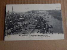Postcard WW1 Rouen River Seine View Soldier Message Censor Stamp