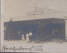 1920s CABINET PHOTO HOLLYWOOD FL GARDINER SUNOCO SERVICE STATION GLOBE GAS PUMPS