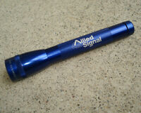 Vintage Mini Maglite ALLIED SIGNAL Advertising Flashlight BLUE Works Great