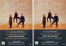 TAKE THAT BIRMINGHAM ARENA MAY 2019 FLYERS X 2