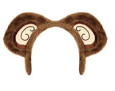 Monkey Ears Headband - Fancy Dress Costume Animal Brown Cheeky Outfit