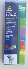 PawZ Protex Dog Boots Water-Proof Paws Disposable Reusable XX-Small Yellow NEW