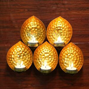 """Indian Metal Wall Sconce Tealight Candle Holder Hanging T-light Diwali Decor 11"""""""