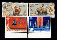 Europa 1992 Postfrisch 100% CEPT, Island, Liechtenstein