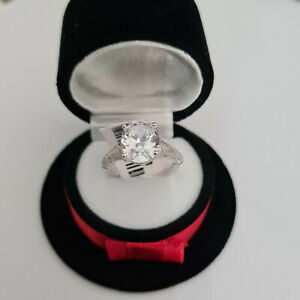 Diamond Ring set in Rhodium over Sterling Silver