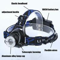 Frontal Head Flashlight LED 568D Aluminum Adjustable Zoomable Lamps For Outdoors