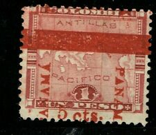 1906 SC 183 ERRORS EFOs  DISPL. SURCHARGE PANAMA CANAL MAP