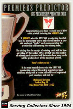1997 Select Ultimate AFL Cards Premiership Predictor Card CC14 Sydney-Rare