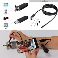7MM 10M Snake Endoscope 2 in 1 USB Inspection Camera 6LED Waterproof Android PC