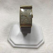 A210 Original Vintage Lord Elgin Swiss 14K Gold 21J Mechanical Wrist Watch