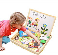 Educational Wooden Toys Magnetic Drawing Board Puzzles Games Learning Children